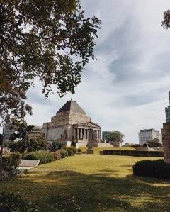 Shrine of Remembrance, one of Melbourne's landmarks