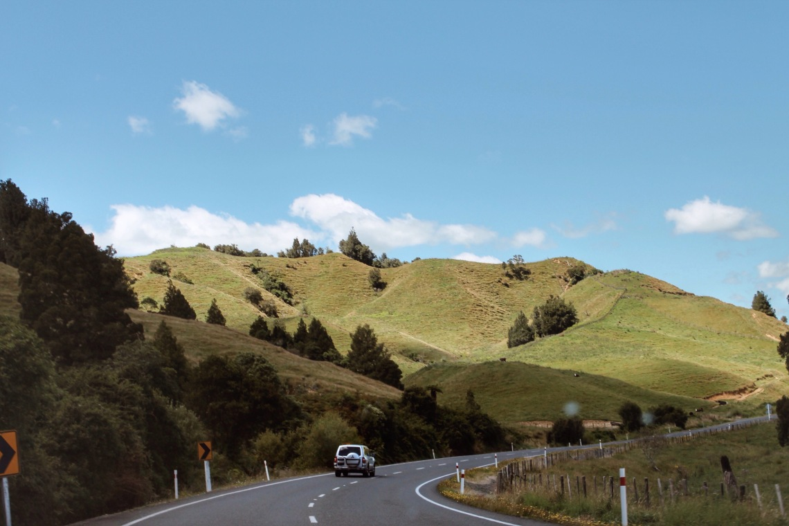 Road to Hamilton, New Zealand