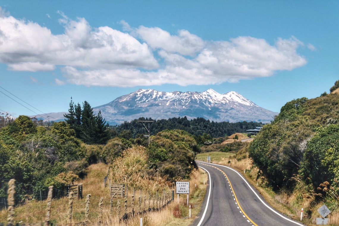 Road to Tongariro National Park, New Zealand