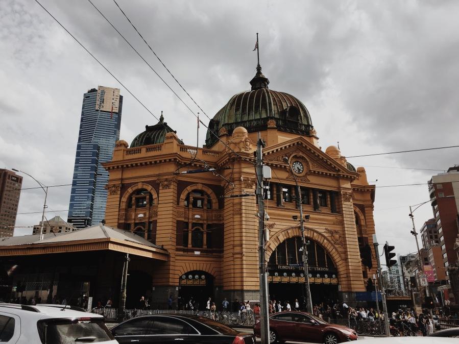 Flinders Station, Federation Square, Melbourne Australia
