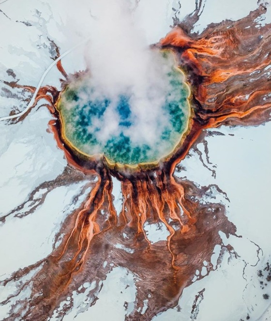 Grand Prismatic Spring, Yellowstone, USA - @neohumanity www.selfwanderer.com