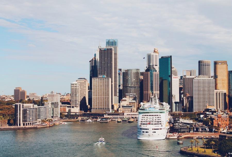 View from the Harbour Bridge, Sydney Australia
