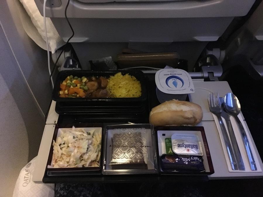 Menu Qatar Airways - Economy Class