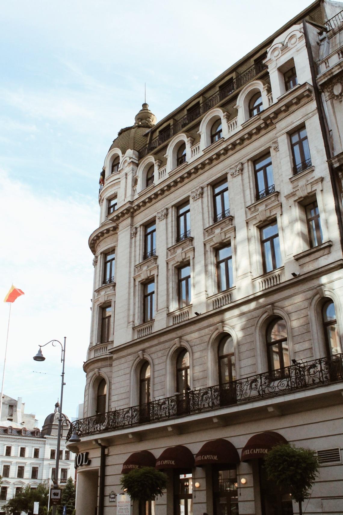 Capitol Hotel on Stirbei Palace on Victoriei Street (Calea Victoriei), Bucharest Romania