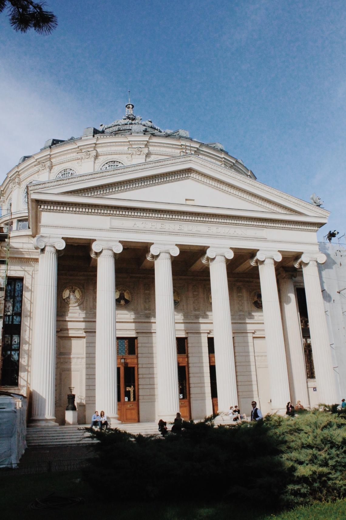 The Romanian Atheneum, Victoriei Street (Calea Victoriei), Bucharest Romania