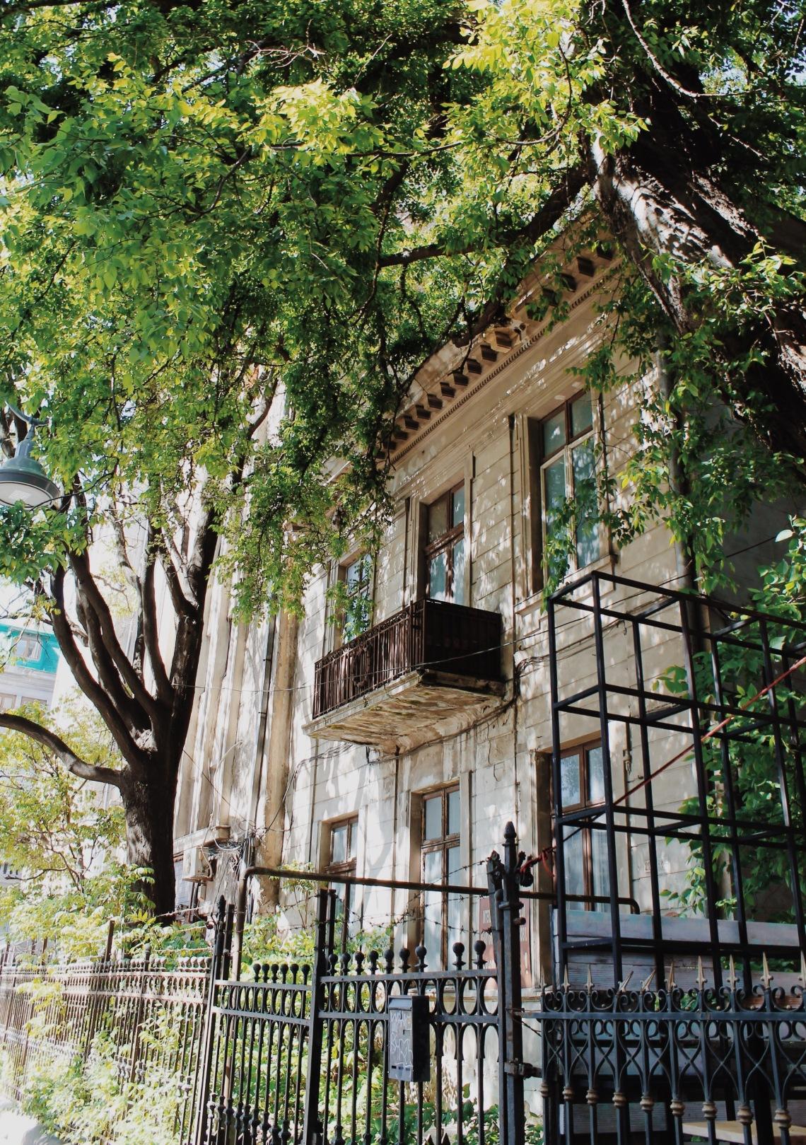 Old House in Victoriei Street, Bucharest Romania