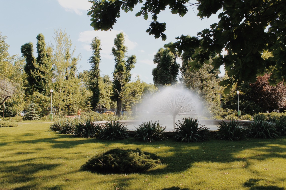 Park located near Romanian Academy in Bucharest, Romania