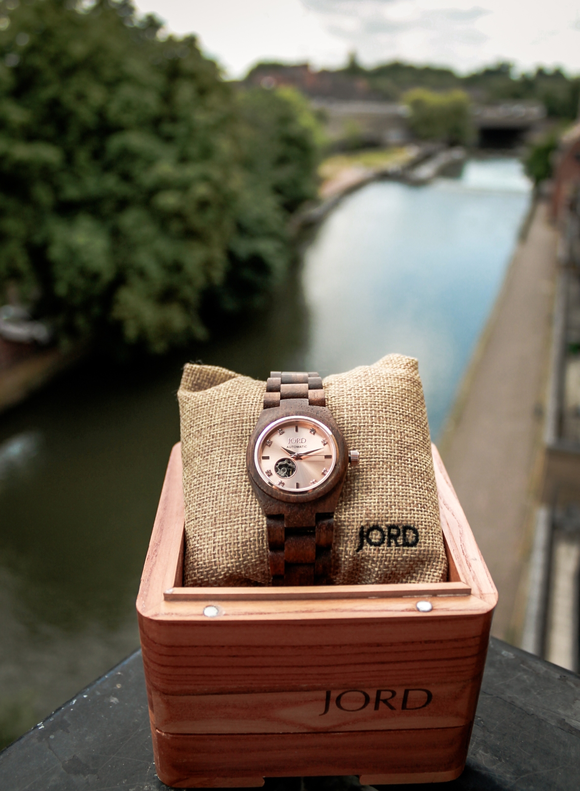 JORD CORA series Koa & Rose Gold